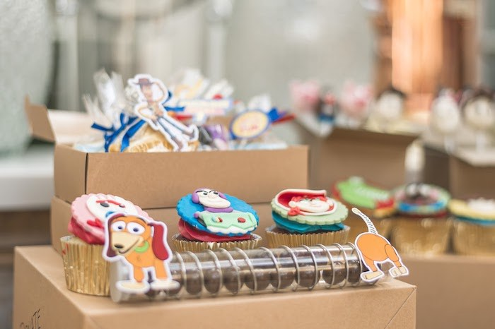 Moving Box Dessert Table + Sweets from a Toy Story 1st Birthday Party on Kara's Party Ideas | KarasPartyIdeas.com (12)