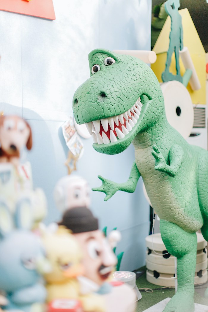 Rex Prop from a Toy Story 1st Birthday Party on Kara's Party Ideas | KarasPartyIdeas.com (38)