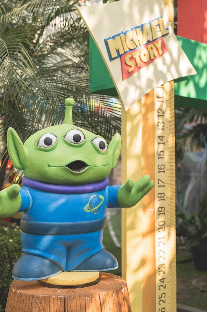 Alien Toy Prop from a Toy Story 1st Birthday Party on Kara's Party Ideas | KarasPartyIdeas.com (8)