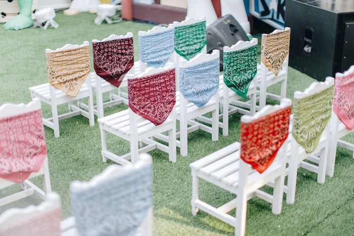 Bandana-adorned Chairs from a Toy Story 1st Birthday Party on Kara's Party Ideas | KarasPartyIdeas.com (36)