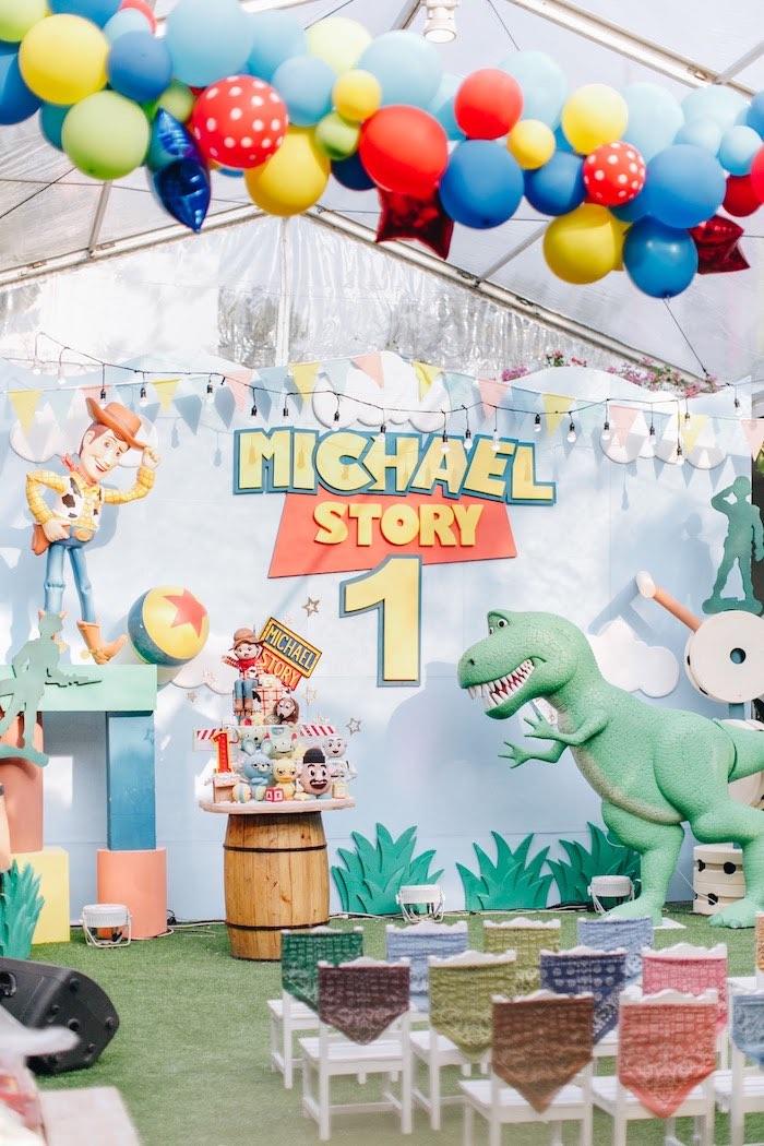 Kara S Party Ideas Toy Story 1st Birthday Party Kara S Party Ideas
