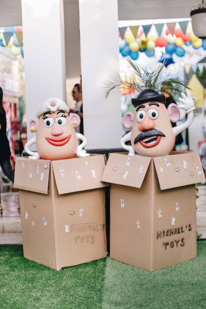 Mr & Mrs Potato Head from a Toy Story 1st Birthday Party on Kara's Party Ideas | KarasPartyIdeas.com (32)