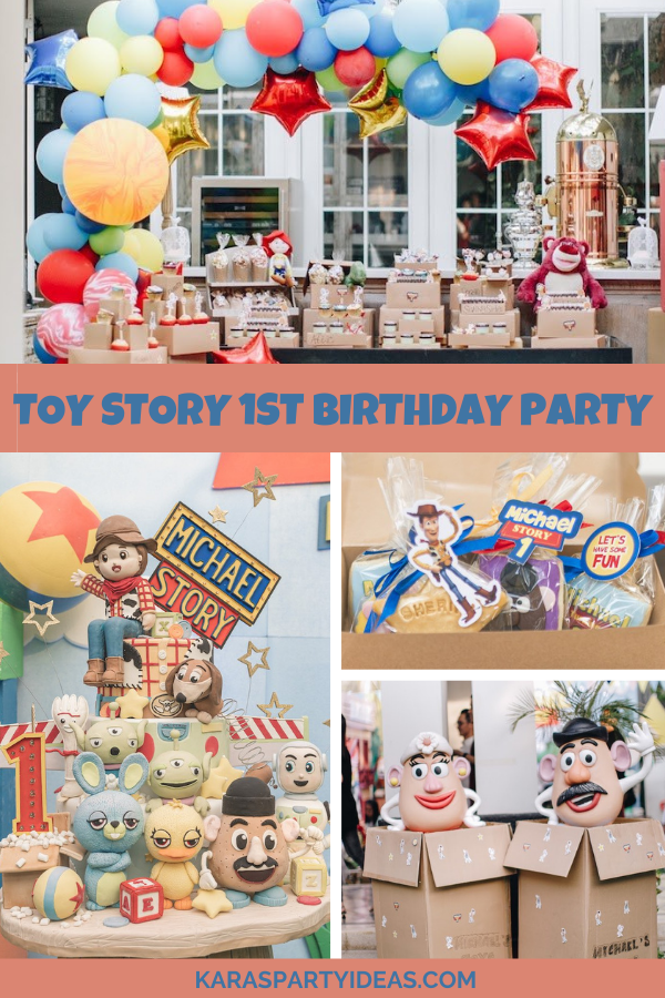 Toy Story 1st Birthday Party via Kara's Party Ideas - KarasPartyIdeas.com