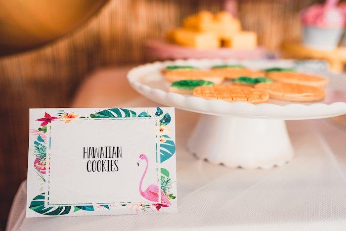 Tropical Flamingo Dessert Label from a Tropical Flamingo Party on Kara's Party Ideas | KarasPartyIdeas.com (25)