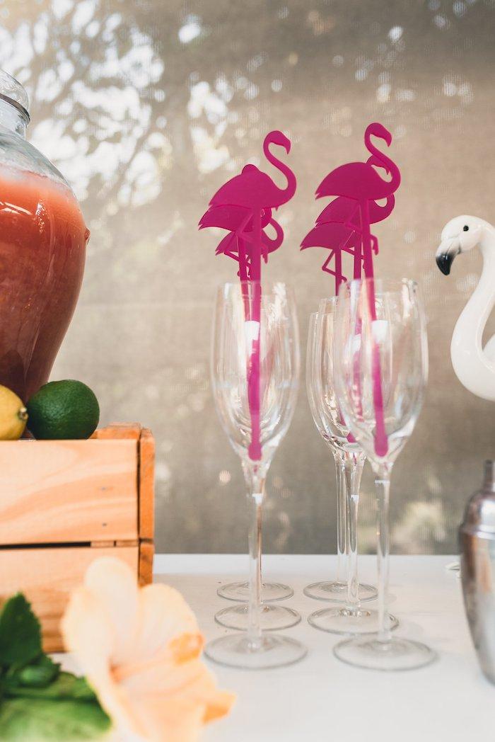 Flamingo Flutes from a Tropical Flamingo Party on Kara's Party Ideas | KarasPartyIdeas.com (15)