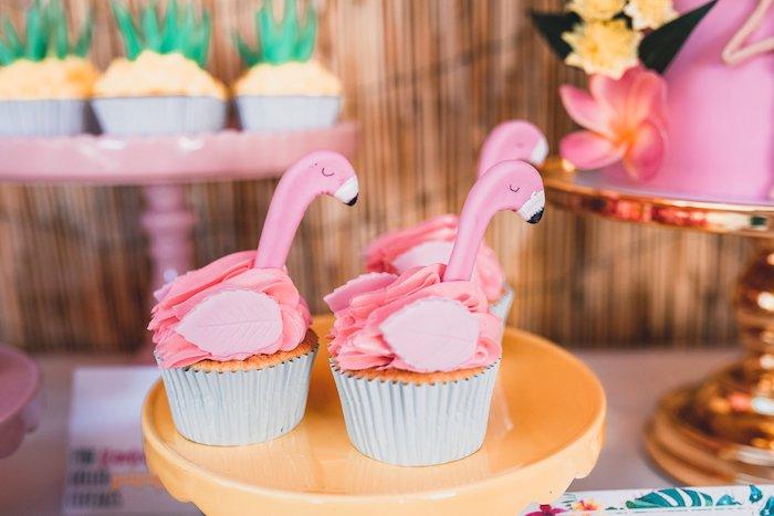 Flamingo Cupcakes from a Tropical Flamingo Party on Kara's Party Ideas | KarasPartyIdeas.com (11)