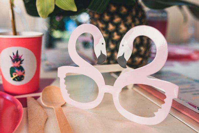 Flamingo Glasses from a Tropical Flamingo Party on Kara's Party Ideas | KarasPartyIdeas.com (8)