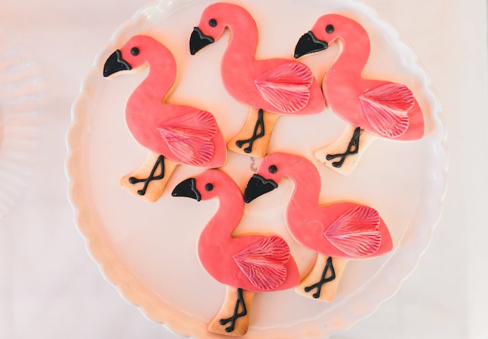 Flamingo Cookies from a Tropical Flamingo Party on Kara's Party Ideas | KarasPartyIdeas.com (35)