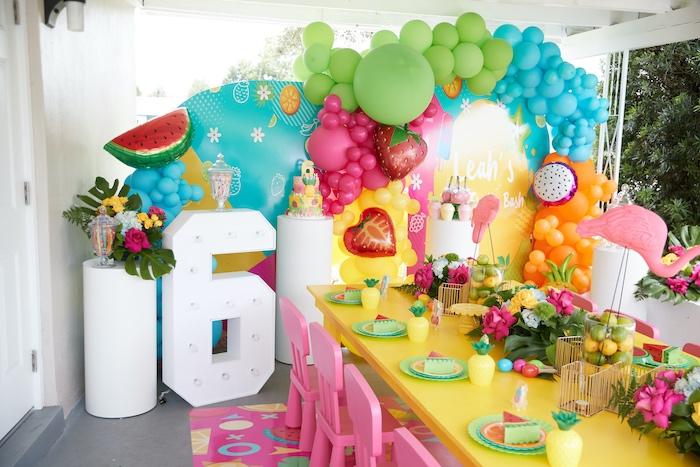 Tutti Frutti Birthday Party on Kara's Party Ideas | KarasPartyIdeas.com (10)