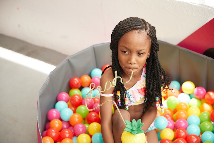 Ball Pit from a Tutti Frutti Birthday Party on Kara's Party Ideas | KarasPartyIdeas.com (6)