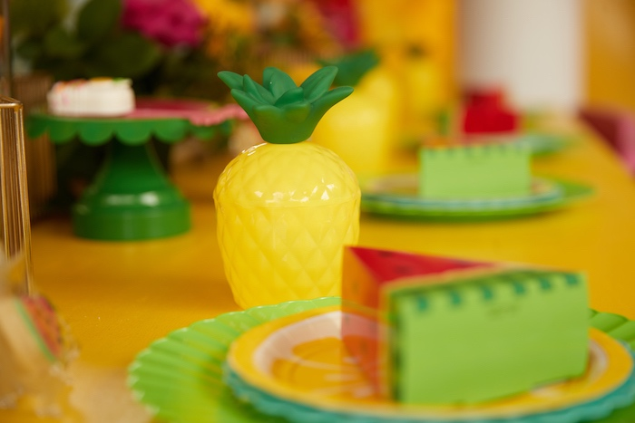 Pineapple Cup from a Tutti Frutti Birthday Party on Kara's Party Ideas | KarasPartyIdeas.com (17)