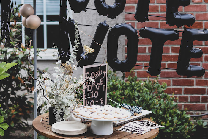 """""""Don't Forget to Vote"""" Dessert Table from a """"Don't Forget to Vote"""" Party on Kara's Party Ideas 