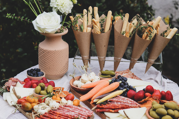 """Food Table from a """"Don't Forget to Vote"""" Party on Kara's Party Ideas 