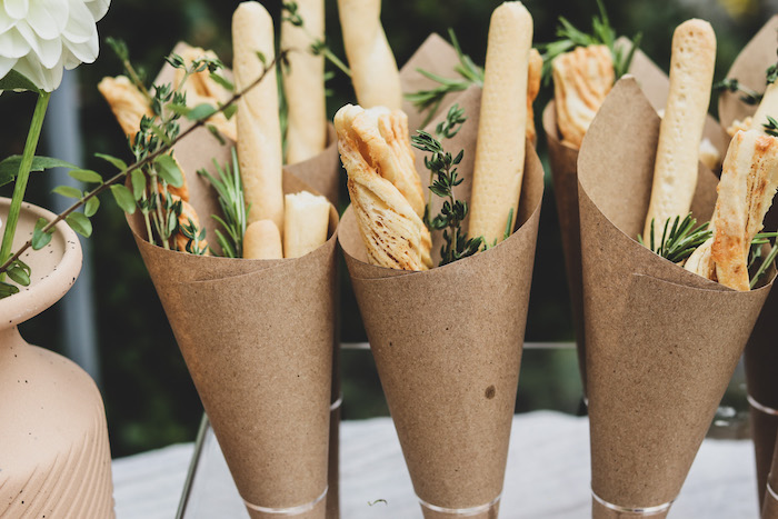 """Breadstick-filled Cones from a """"Don't Forget to Vote"""" Party on Kara's Party Ideas 