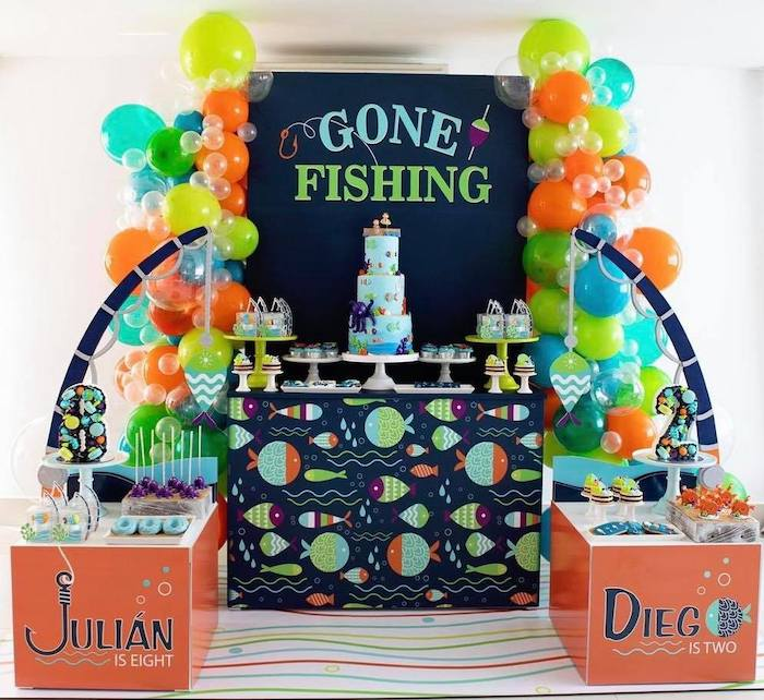"""Gone Fishing"" Birthday Party on Kara's Party Ideas   KarasPartyIdeas.com (13)"