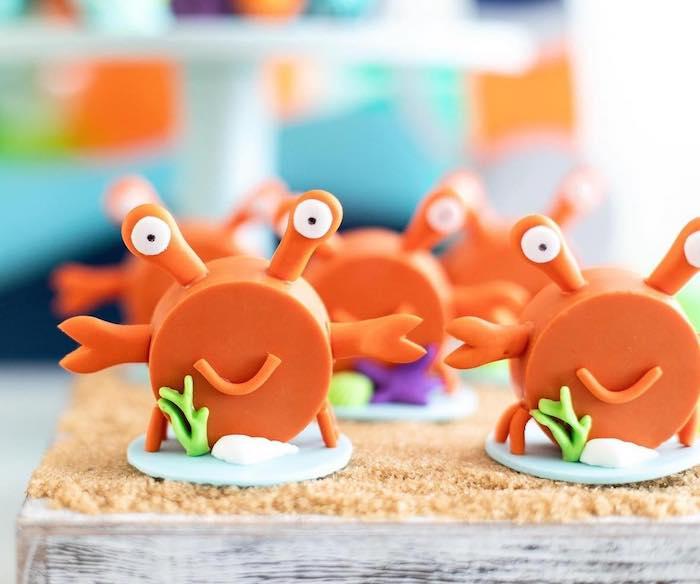 "Crab Oreos from a ""Gone Fishing"" Birthday Party on Kara's Party Ideas   KarasPartyIdeas.com (27)"