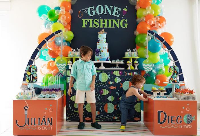"""Gone Fishing"" Birthday Party on Kara's Party Ideas   KarasPartyIdeas.com (8)"