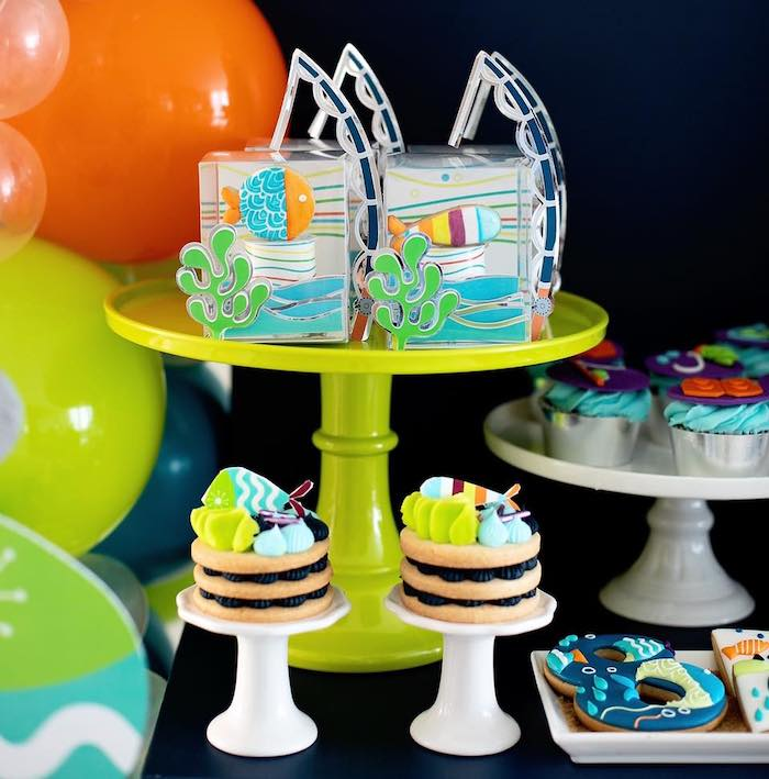"""Fishing Themed Sweets from a """"Gone Fishing"""" Birthday Party on Kara's Party Ideas   KarasPartyIdeas.com (20)"""