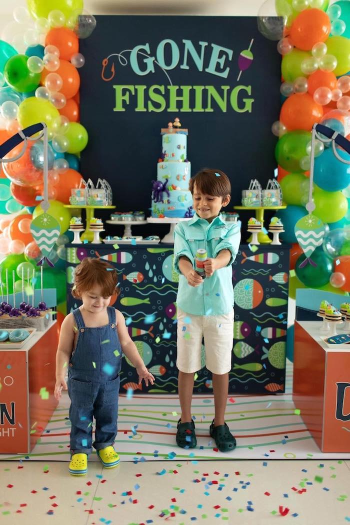 """Gone Fishing"" Birthday Party on Kara's Party Ideas   KarasPartyIdeas.com (19)"