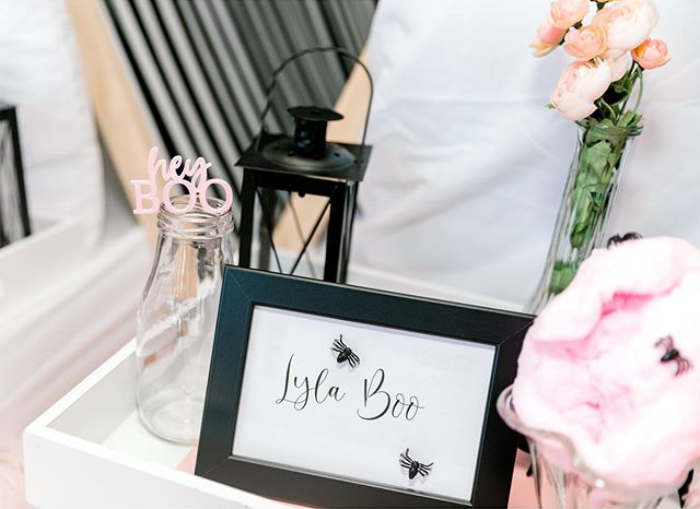 """Signage from a """"My Lil' BOO Thing"""" Halloween Party on Kara's Party Ideas 