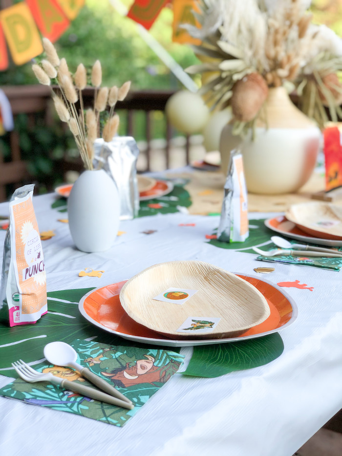 Table Setting from a Boho Lion King Birthday Party on Kara's Party Ideas | KarasPartyIdeas.com (20)