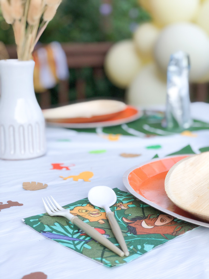 Modern Flatware paired with a Lion King Napkin from a Table Setting from a Boho Lion King Birthday Party on Kara's Party Ideas | KarasPartyIdeas.com (19)