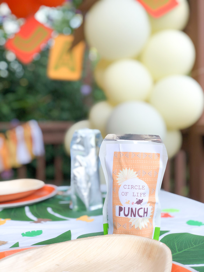 Circle of Life Punch from a Boho Lion King Birthday Party on Kara's Party Ideas | KarasPartyIdeas.com (18)
