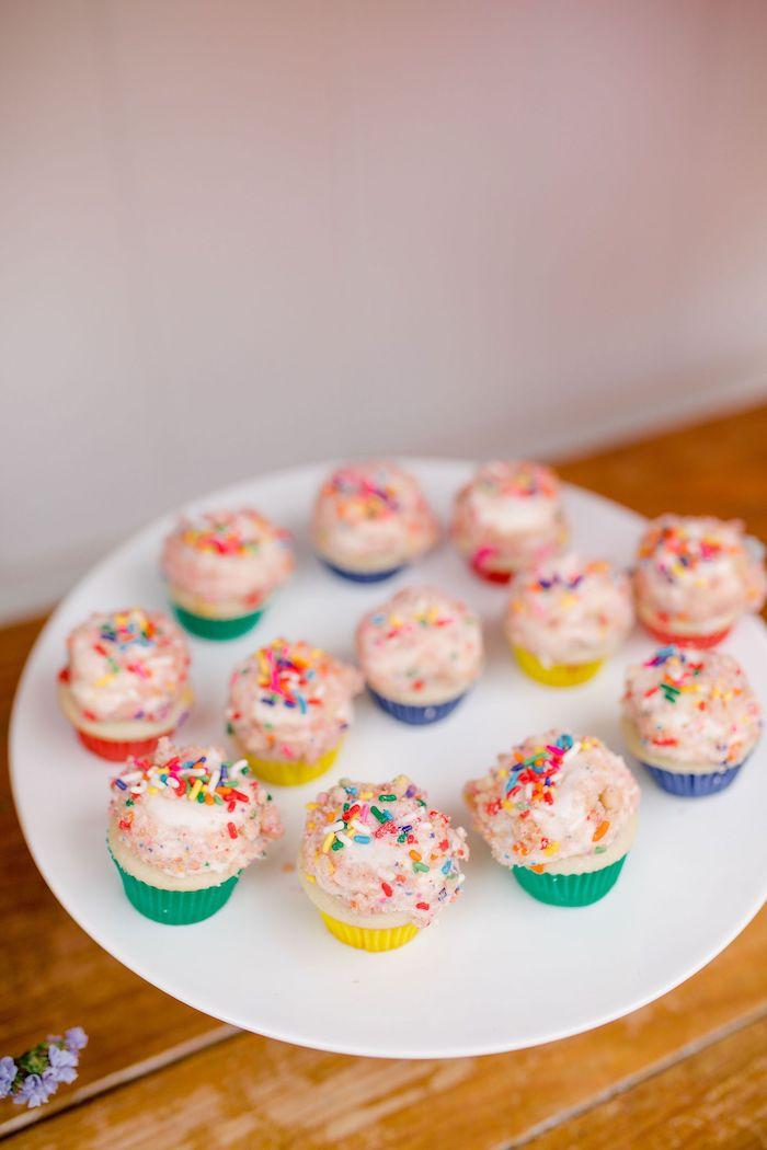 Carnival Cupcakes from a Carnival + Street Fair Drive-by Party on Kara's Party Ideas | KarasPartyIdeas.com (28)