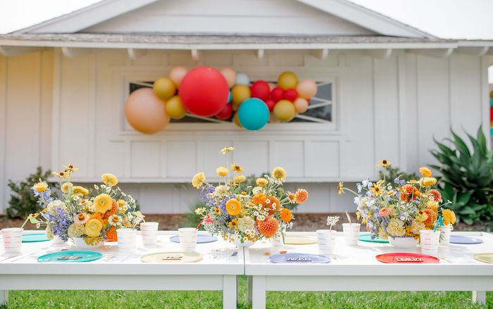 Guest Table from a Carnival + Street Fair Drive-by Party on Kara's Party Ideas | KarasPartyIdeas.com (19)