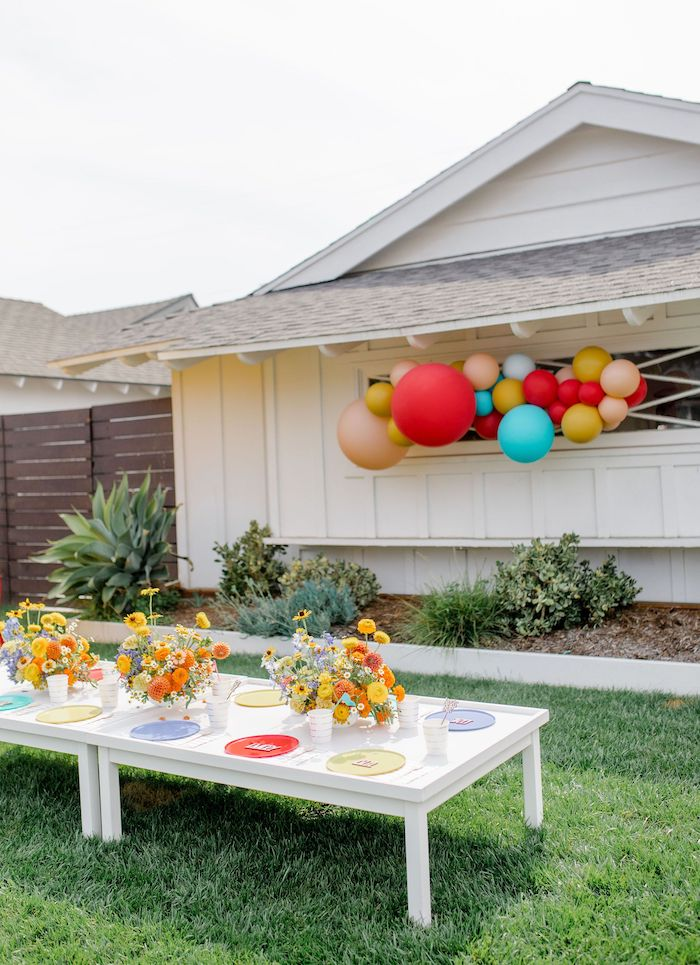 Guest Table from a Carnival + Street Fair Drive-by Party on Kara's Party Ideas | KarasPartyIdeas.com (18)