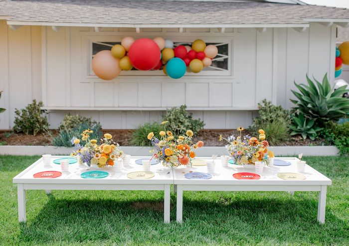 Guest Table from a Carnival + Street Fair Drive-by Party on Kara's Party Ideas | KarasPartyIdeas.com (16)