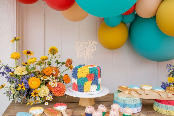 Cake Table from a Carnival + Street Fair Drive-by Party on Kara's Party Ideas | KarasPartyIdeas.com (15)