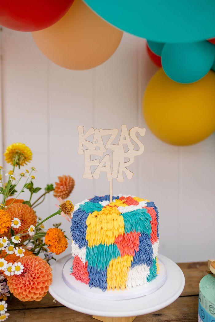 Shag Cake from a Carnival + Street Fair Drive-by Party on Kara's Party Ideas | KarasPartyIdeas.com (9)