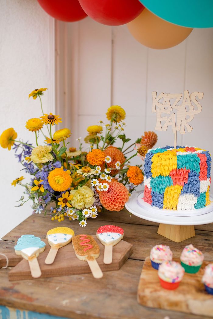 Sweet Table from a Carnival + Street Fair Drive-by Party on Kara's Party Ideas | KarasPartyIdeas.com (8)