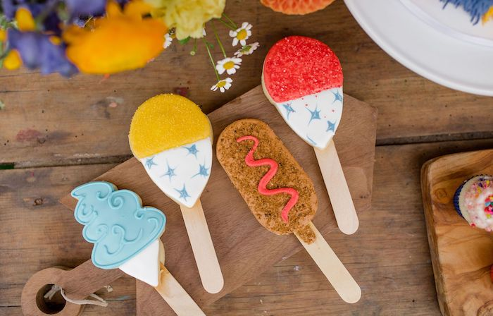 Carnival Cookie Sticks from a Carnival + Street Fair Drive-by Party on Kara's Party Ideas | KarasPartyIdeas.com (7)