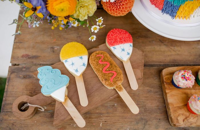 Carnival Cookie Sticks from a Carnival + Street Fair Drive-by Party on Kara's Party Ideas | KarasPartyIdeas.com (5)
