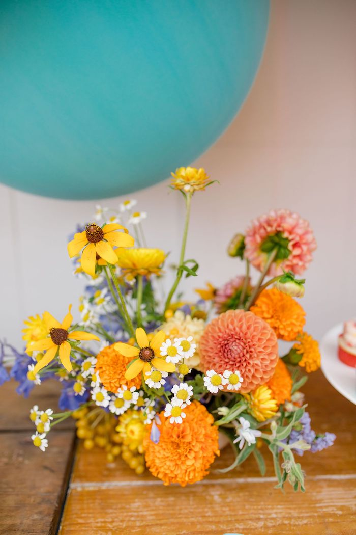 Blooms from a Carnival + Street Fair Drive-by Party on Kara's Party Ideas | KarasPartyIdeas.com (36)