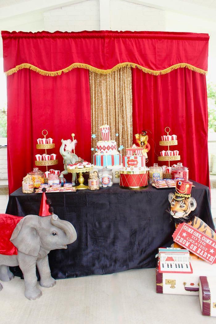 Circus Themed Dessert Table from a Circus Birthday Party on Kara's Party Ideas | KarasPartyIdeas.com (17)