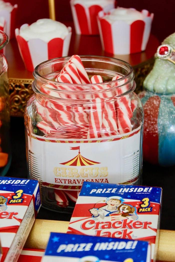 Candy Sticks from a Circus Birthday Party on Kara's Party Ideas | KarasPartyIdeas.com (27)