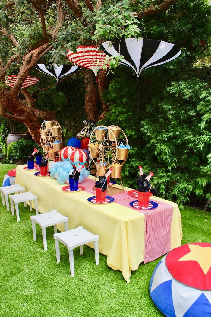 Circus Themed Guest Table from a Circus Birthday Party on Kara's Party Ideas | KarasPartyIdeas.com (23)