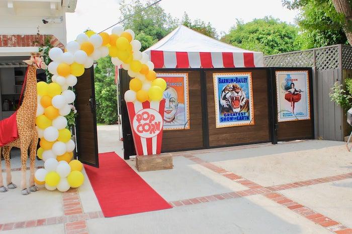 Circus Party Entrance from a Circus Birthday Party on Kara's Party Ideas | KarasPartyIdeas.com (20)