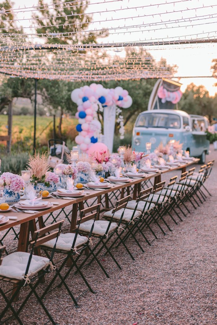 Floral Guest Table from a Floral Vineyard Baptism Celebration on Kara's Party Ideas | KarasPartyIdeas.com (30)