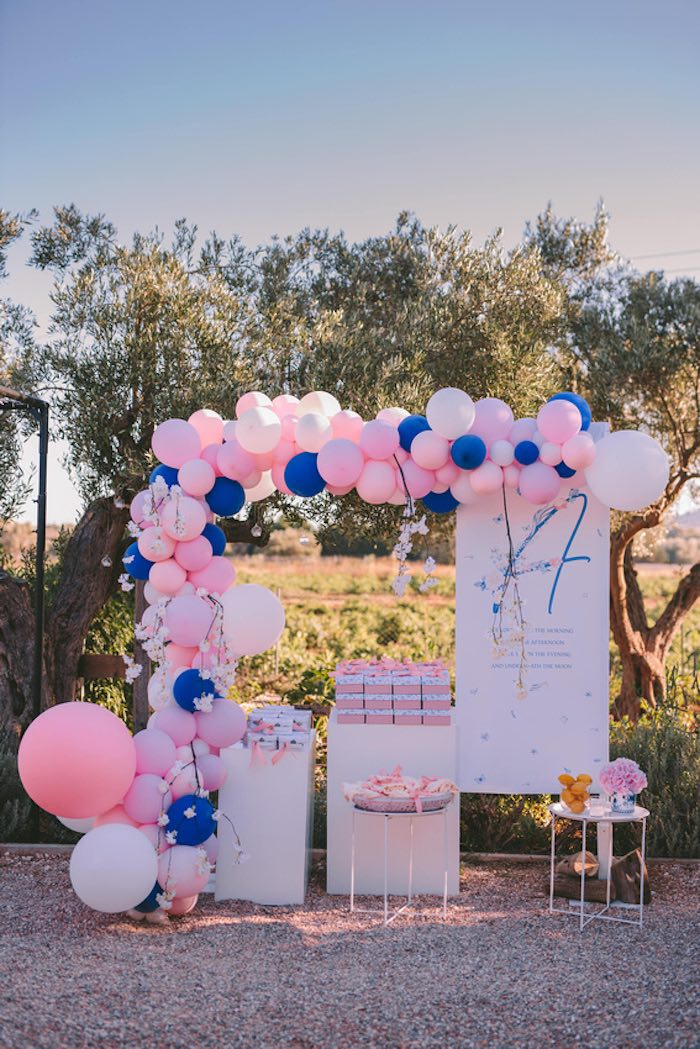 Favor Table from a Floral Vineyard Baptism Celebration on Kara's Party Ideas | KarasPartyIdeas.com (25)