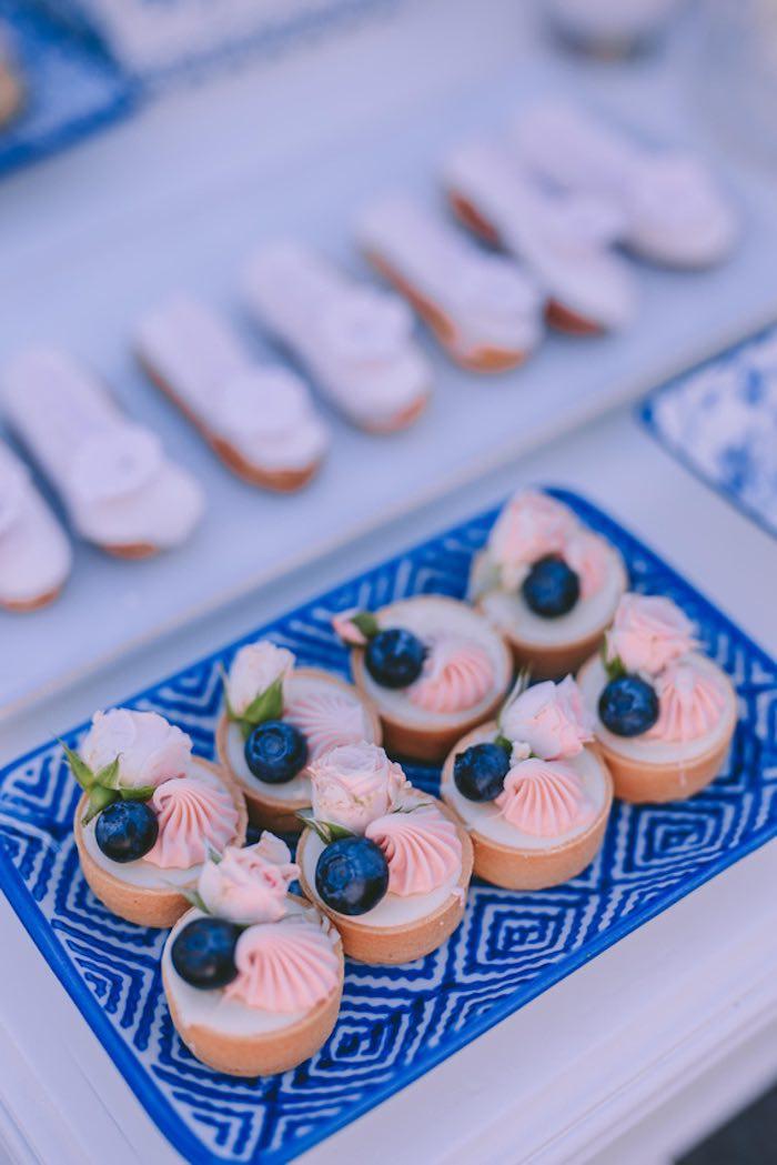 Dessert Tarts from a Floral Vineyard Baptism Celebration on Kara's Party Ideas | KarasPartyIdeas.com (14)