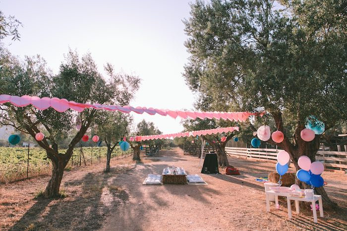 Kid Area from a Floral Vineyard Baptism Celebration on Kara's Party Ideas | KarasPartyIdeas.com (8)