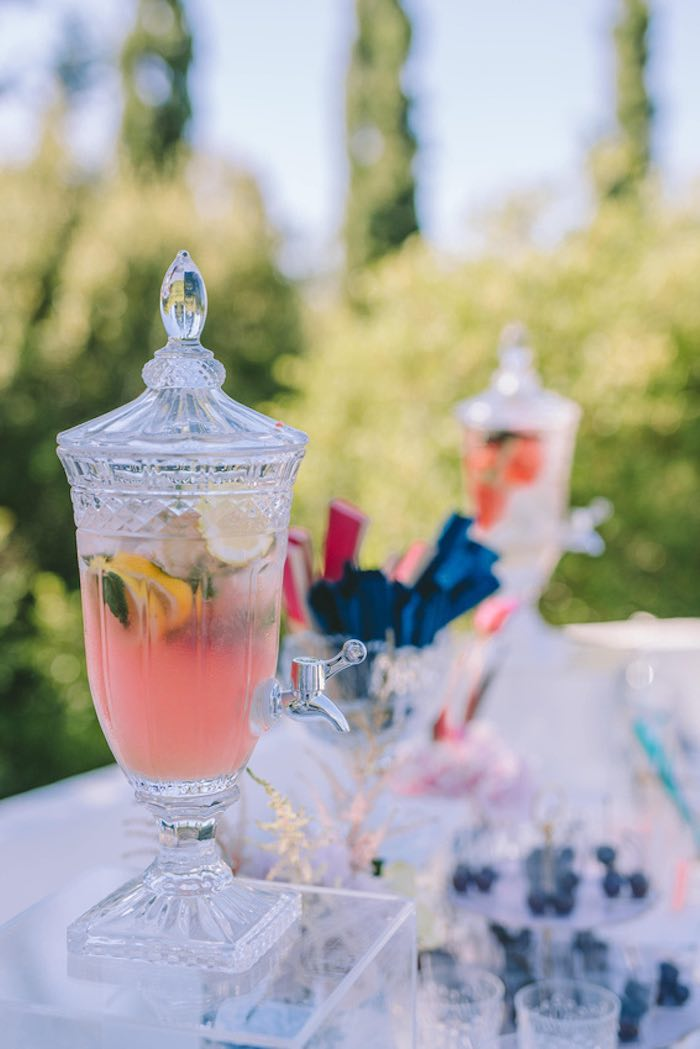 Beverage Dispenser from a Floral Vineyard Baptism Celebration on Kara's Party Ideas | KarasPartyIdeas.com (38)