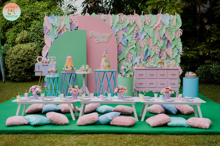 Girly Dino Birthday Party on Kara's Party Ideas | KarasPartyIdeas.com (14)