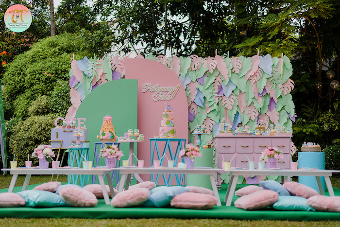 Girly Dino Birthday Party on Kara's Party Ideas | KarasPartyIdeas.com (8)