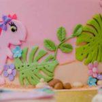 Girly Dino Birthday Party on Kara's Party Ideas | KarasPartyIdeas.com (1)