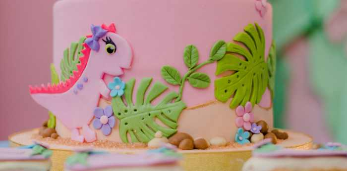 Girly Dino Birthday Party on Kara's Party Ideas | KarasPartyIdeas.com (1)